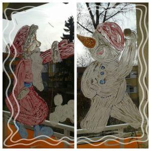 Weihnachtsfenster der Zwillinge