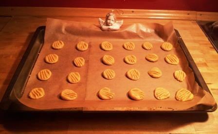 Erdnuss-Kekse. Ungebacken.