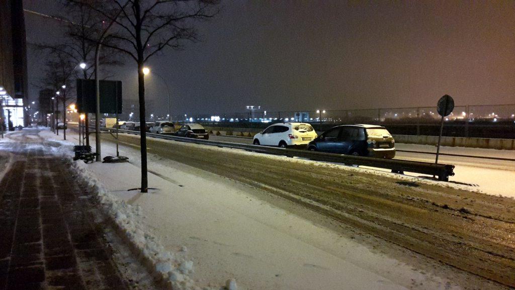 verschneite Hafencity