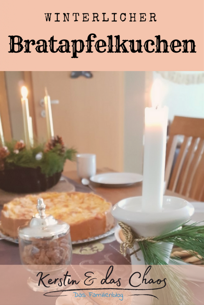REZEPT: köstlicher Bratapfelkuchen für die Kaffeetafel im Winter