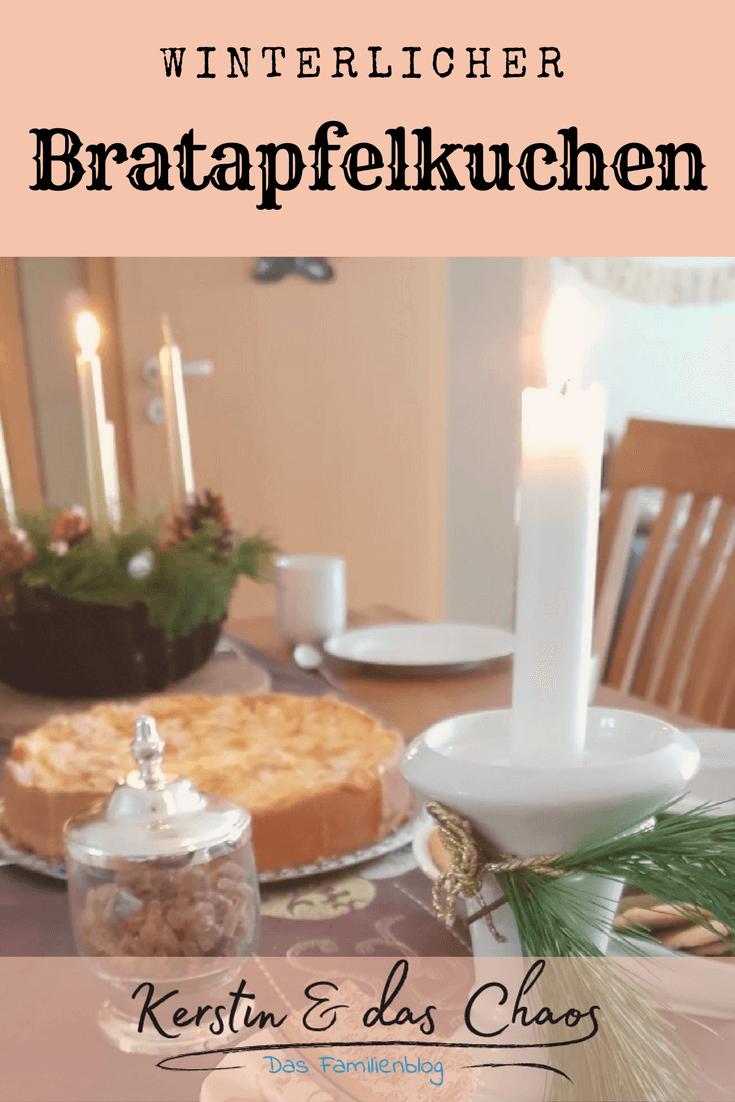 winterlicher Bratapfelkuchen ohne Backmischung