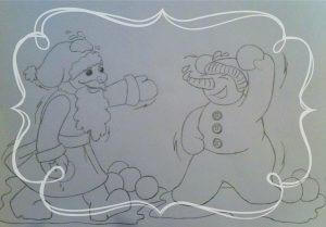 Skizze zum Weihnachtsfenster