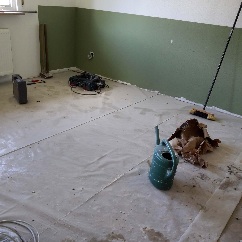 Kinderzimmerwand rausgerissen
