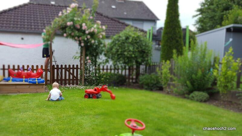 Gartenansicht mit Krümel