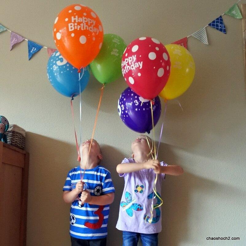dritter Geburtstag der Zwillinge