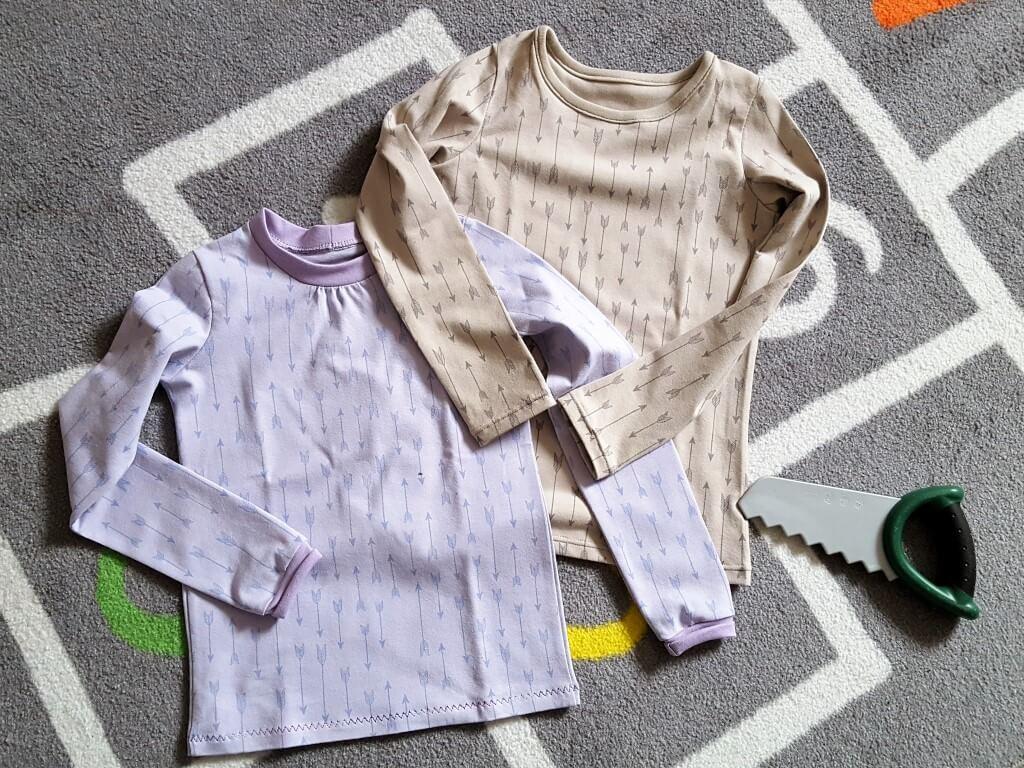 Basic-Langarm-Shirts für Mädchen nach Klimperklein