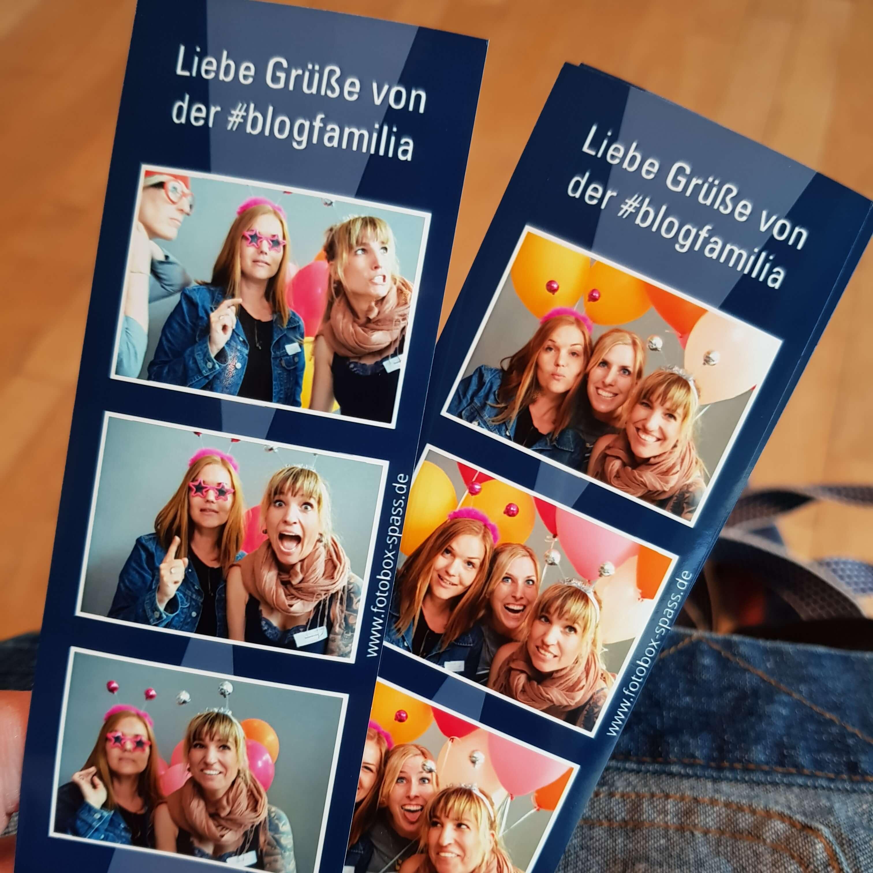 Bilder aus der Fotobox von der Blogfamilia 2018
