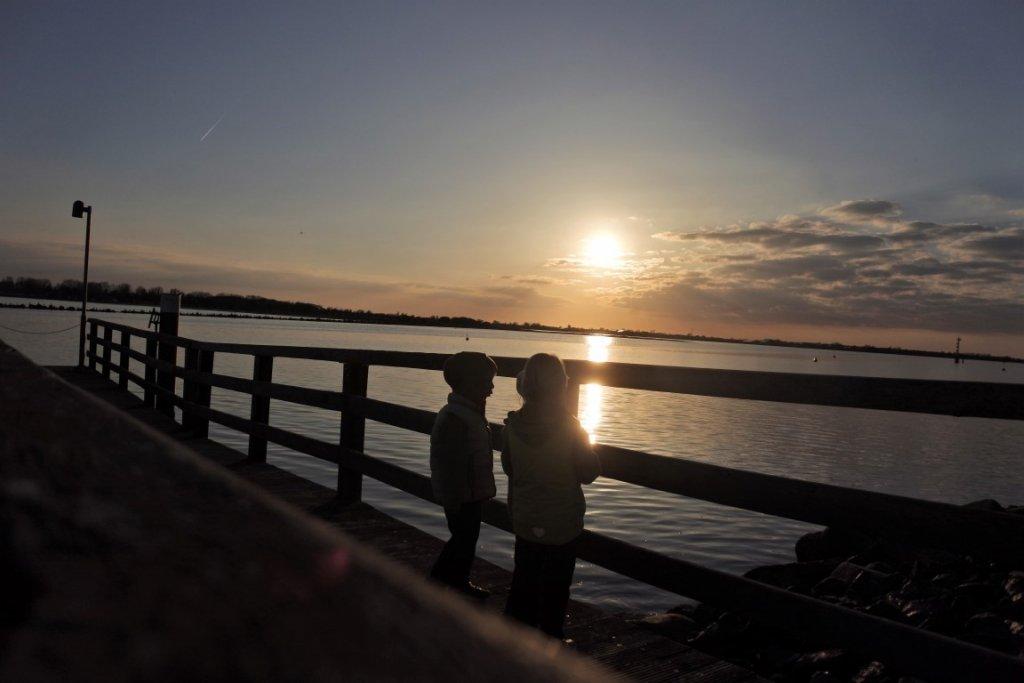 Sonnenuntergang auf Fehmarn - Mutter Kind Kur