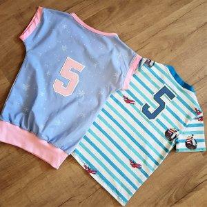 Geburtstagsshirts für Zwillinge zum 5. Geburtstag