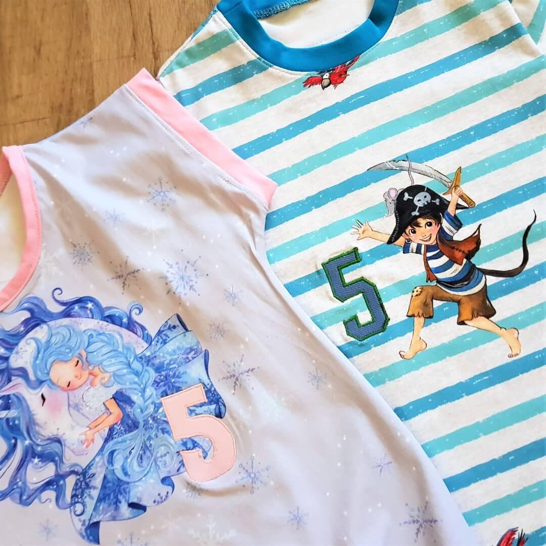 Geburtstagsshirts für Zwillingspärchen zum 5. Geburtstag