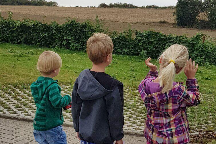 drei Kinder und das Feld
