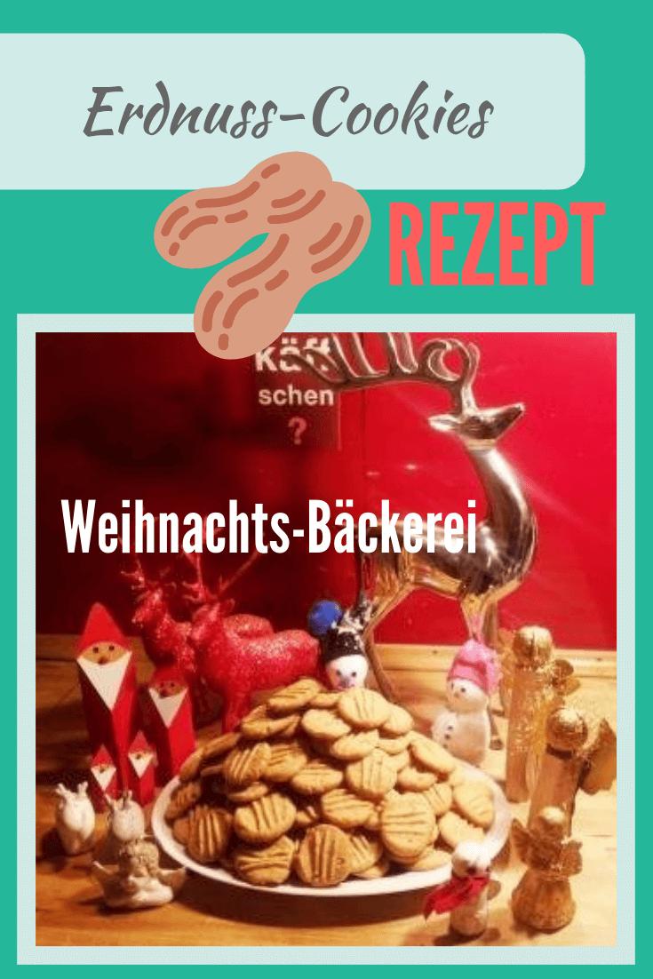 Leckere Erdnuss-Cookies #usa #rezept #weihnachtsbäckerei #advent #kekse