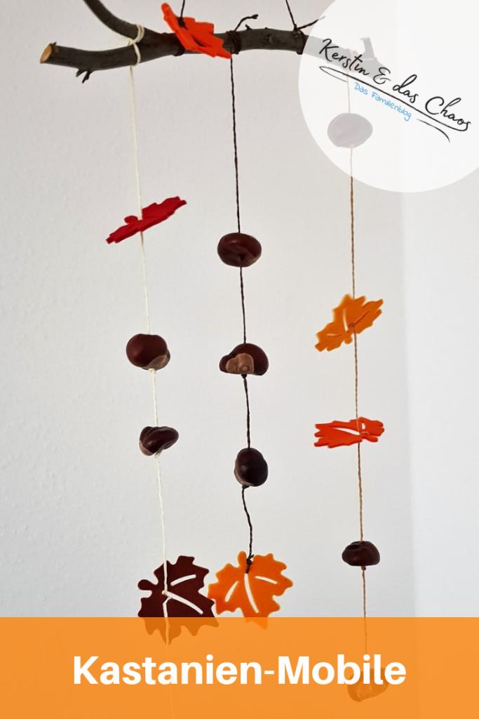 Mobile aus Kastanien basteln und andere kreative Ideen für Herbst-Deko #diy #bastelnmitkindern #herbst