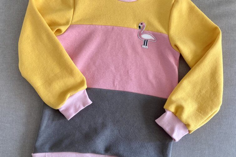 Colorblock Pulli für Kinder